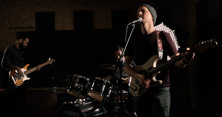 """Matt Palmer Band playing live during the video shoot for """"Chasing Butterflies"""""""
